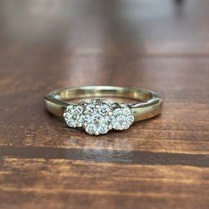 ZALES 1/2 CT. Diamond Flower Ring 14K White Gold